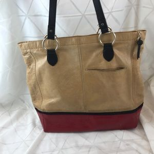 The Sak Iris Camel Block Tote